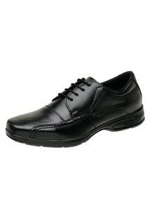 Sapato Vossavest Social Conforto Tradicional Couro Preto