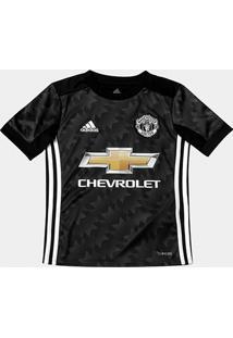 Camisa Manchester United Infantil Away 17/18 S/Nº Torcedor Adidas - Masculino