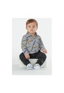 Camisa Up Baby Bebê Cinza