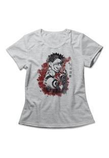 Camiseta Feminina Jujutsu Kaisen King Of Curses Cinza