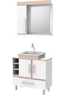 Gabinete Conjunto De Banheiro Completo Cuba Espelho Piassini