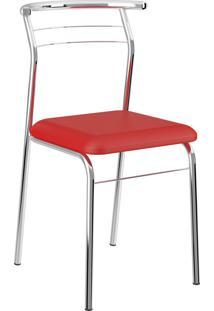 Kit 2 Cadeiras 1708 Napa Móveis Carraro Vermelho