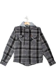 Camisa Xadrez Infantil Gangster Menino Preto - 10
