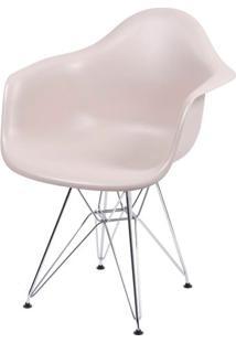 Cadeira Eames Com Braco Base Cromada Fendi Fosco - 35820 - Sun House