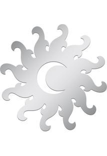 Espelho Decorativo Acrilize Lua E Sol Prata