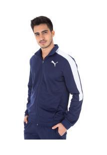 Agasalho Puma Classic Tricot Suit Cl - Masculino - Azul Esc/Branco