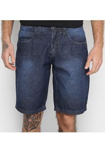 Bermuda Jeans Tks Estonada Masculina - Masculino-Preto