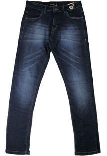Calça Jeans Infantil Oznes Menino Azul - 10