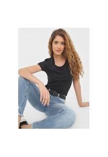 Camiseta Polo Wear Básica Preta