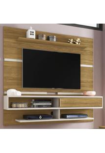Painel Para Tv Até 60 Polegadas 1 Porta Búzios Flex Cinamomo/Off White - Bechara Móveis