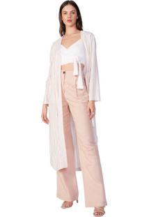 Kimono Longo De Linho