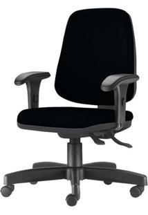 Cadeira Job Diretor Com Bracos Curvados Courino Base Rodizio Metalico Preto - 54638 Sun House