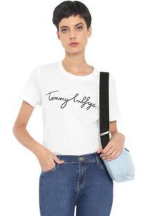 Camiseta Tommy Hilfiger Heritage Crew Neck Graphic Branca