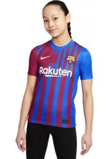 Camisa Infantil Nike Barcelona I 2021/2022 Torcedor Pro