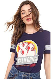 Camiseta Carmim Califórnia Azul-Marinho