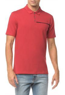 Polo Ckj Mc Est Logo Palito - Vermelho - Pp