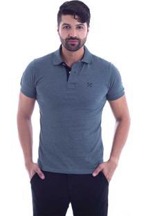 46d7172abef30 Camisa Pólo Plus Size Verde Militar masculina