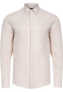 Camisa Masculina Linen Lisa - Bege