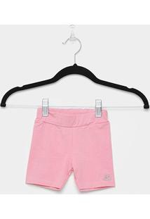 Shorts Infantil Up Baby Cotton Feminino - Feminino-Rosa