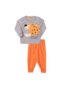 Conjunto Pijama Infantil Tigre Roar Mescla
