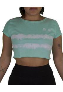 Camiseta Riu Kiu Cropped Tie Dye Feminina - Feminino