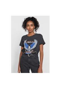 Camiseta Enfim Eagles Preta
