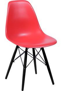 Cadeira Com Base Preta 1102-Or Design - Vermelho