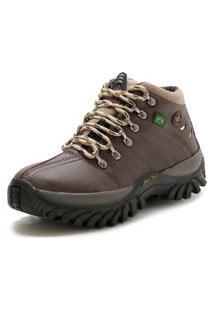 Bota Ec Shoes Adventure Cano Medio Tratorada Café
