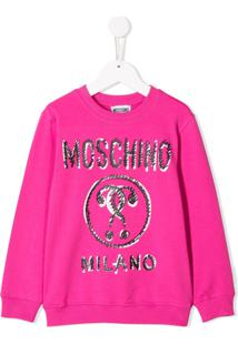 Moschino Kids Suéter Com Estampa - Rosa