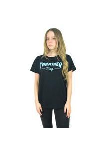 Camiseta Thrasher Magazine Feminina Mag Logo Preta