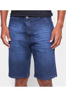 Bermuda Jeans Onbongo Lisa Masculina - Masculino-Preto
