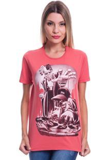 Camiseta Jazz Brasil Jazz Dj Vermelha - Vermelho - Feminino - Algodã£O - Dafiti