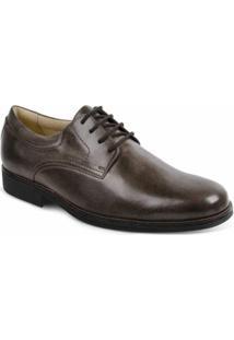 Sapato Social Couro Sandro & Co Masculino - Masculino-Marrom Escuro