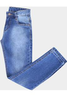 Calça Jeans Juvenil Gansgter Estonada - Masculino-Jeans