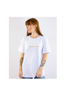 Camiseta Toneh Toneh Frase Branca Branco