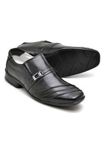 Sapato Confort Pele De Carneiro 04W Preto