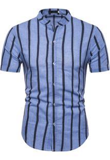 Camisa Vintage Stripes - Azul