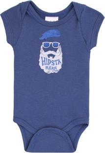 Body Masculino Up Baby Hipsta Azul - Masculino-Azul