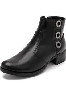 Bota Sandalo Clave De Fa Sitar Feminina - Feminino-Preto
