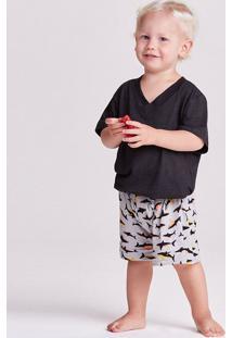 Pijama Curto Malha Hawaii Kids Masculino