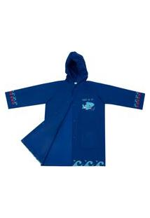 Capa De Chuva Infantil Azul Oceano Feminino Pimpolho