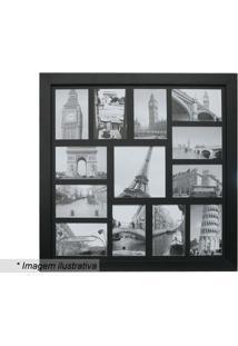 Painel Para 13 Fotos- Preto- 55X55X3Cm- Kaposkapos