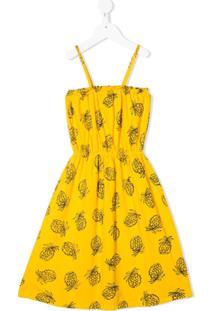 Bobo Choses Vestido Com Estampa De Abacaxi - Amarelo