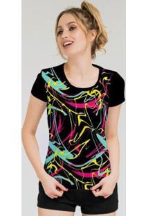 Camiseta Stompy Feminina Estampada 08 - Feminino-Preto