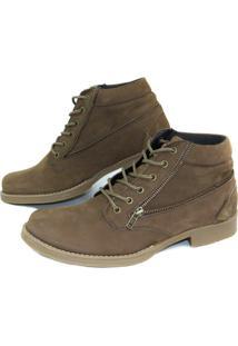 Bota Casual Ln Boots Nobuck 18Rt - Masculino-Marrom