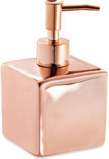 Porta Sabonete Liquido Liso- Ros㪠Gold- 8,5X15,5X15,Mart