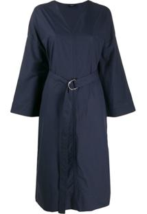 Joseph Vestido Midi Etta - Azul