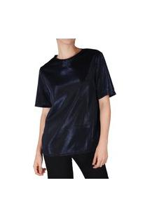Camiseta Superfluous Brilho Azul Marinho