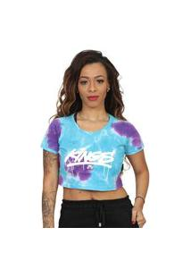 Camiseta Kings Sneakers Cropped Tie Dye Roxo