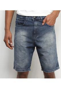 Bermuda Tbt Jeans Destroyed Masculina - Masculino-Azul